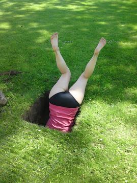 Bildresultat för den som gräver en grop åt andra faller själv däri